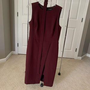 NWT WHBM layered sheath dress in black cherry - 14
